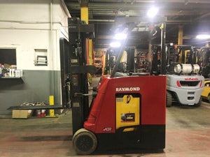 2010 Raymond 415-C30TT Narrow Aisle Stand Up Forklift SN 1028