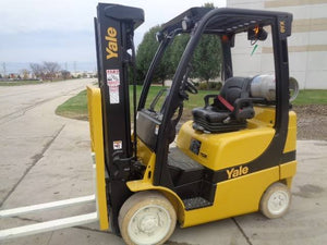 2016 Yale GLC050VXNDAE085 CUSHION TIRE FORKLIFT SN 2214