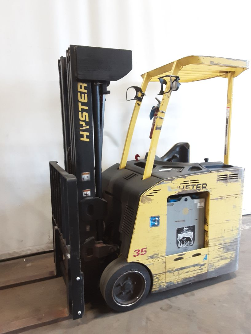 2013 Hyster E35HSD2 Narrow Aisle Stand Up 3500 lbs capacity SN 4016