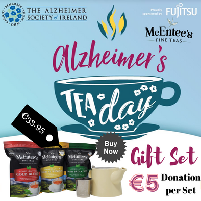 McEntee's Tea launches Alzheimers Ireland Tea Day Gift Set with €5 Charitable Donation.