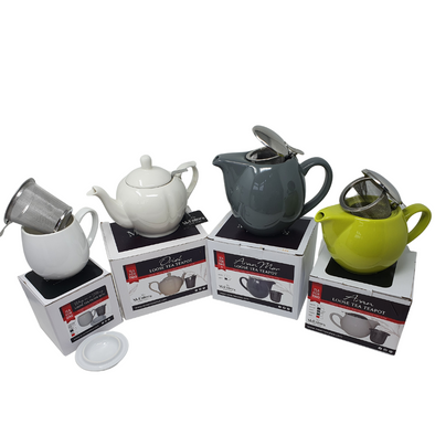 Our McEntee's Filter Tea Pots and Filter Mug Range
