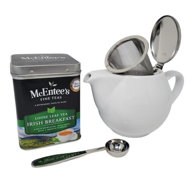 Irish Breakfast Caddy & Teapot Gift Set – Easy tea for two!