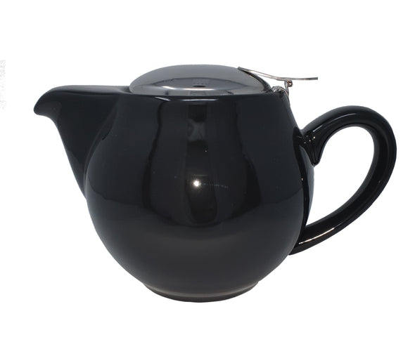 Black Aran Teapot 500ml with filter