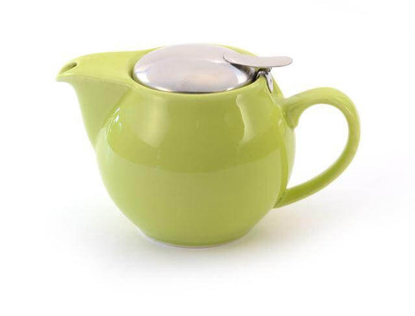 Lime Green Aran 500ml (1-2 cup) Ceramic Teapot Stainless Steel Lid Teapot with removable Stainless Steel Mesh Infuser for use with loose tea. Available in a range of colours