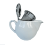 White Aran 500ml Teapot with removable steel filter, Tea for two