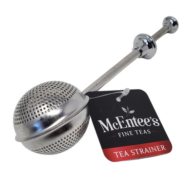 Push Handle Tea strainer - Push Ball-shaped stainless steel tea infuser
