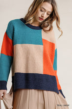 Load image into Gallery viewer, Colorblock Contrasted Cotton Fabric Sweater