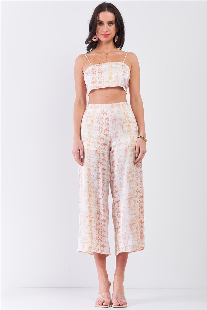 Liz Crop Top & High Waist Flare Bottom Pants Set