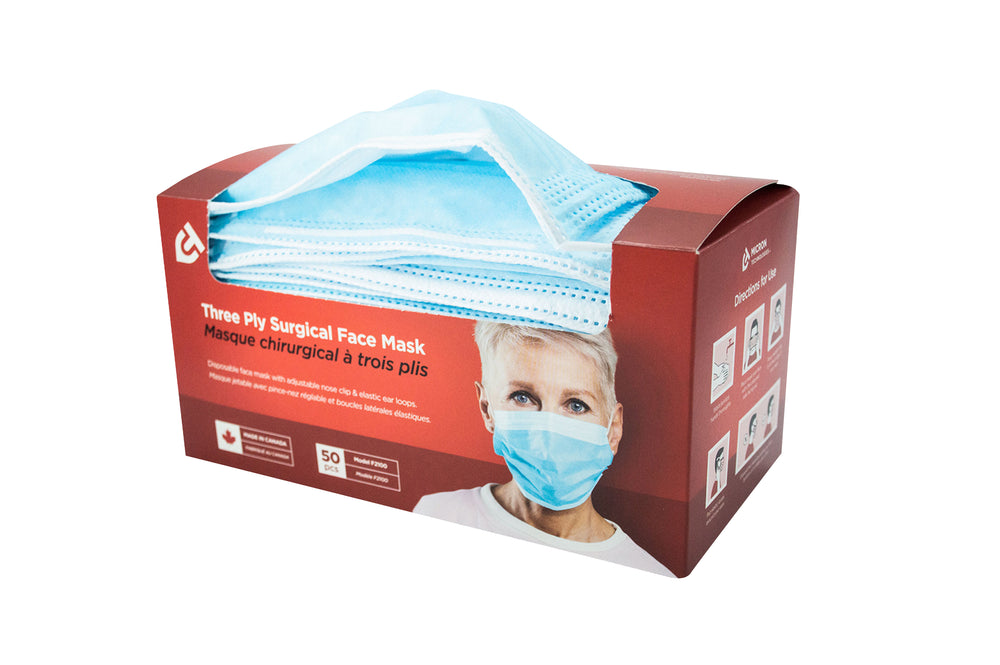 Load image into Gallery viewer, Medical Grade 3-ply Surgical Face Masks (Blue)