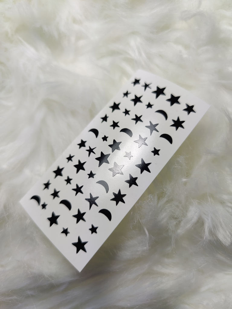 Vinyl Stickers - Stars and moon