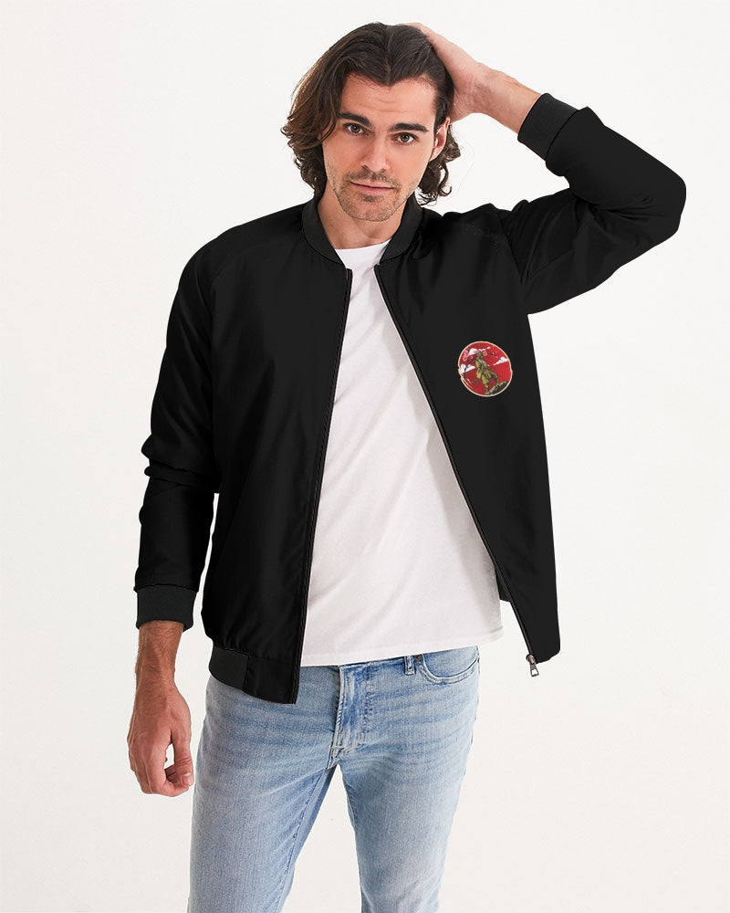 Samurai under Pink Blossom Men's Bomber Jacket