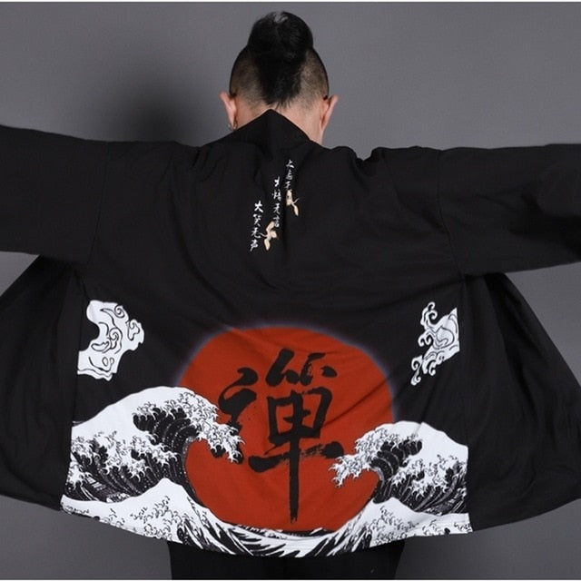 Samurai and Japanese Mythical Printed Kimonos