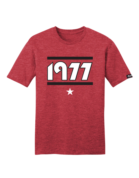 Almanac Heather Red 1977 Portland Tee