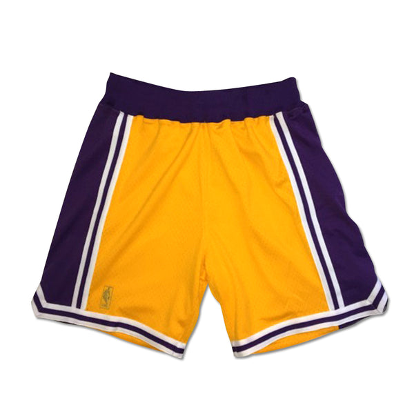 Mitchell & Ness 1996-97 Los Angeles Lakers (Gold Body) Authentic Short