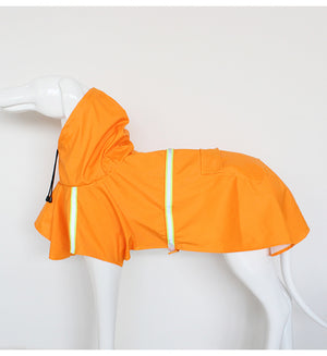 hooded reflective best outdoor sports dog raincoat for small to large dogs coat