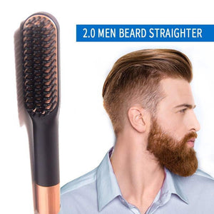 Cheap beard straightener men Hair Combs styling brush for sale