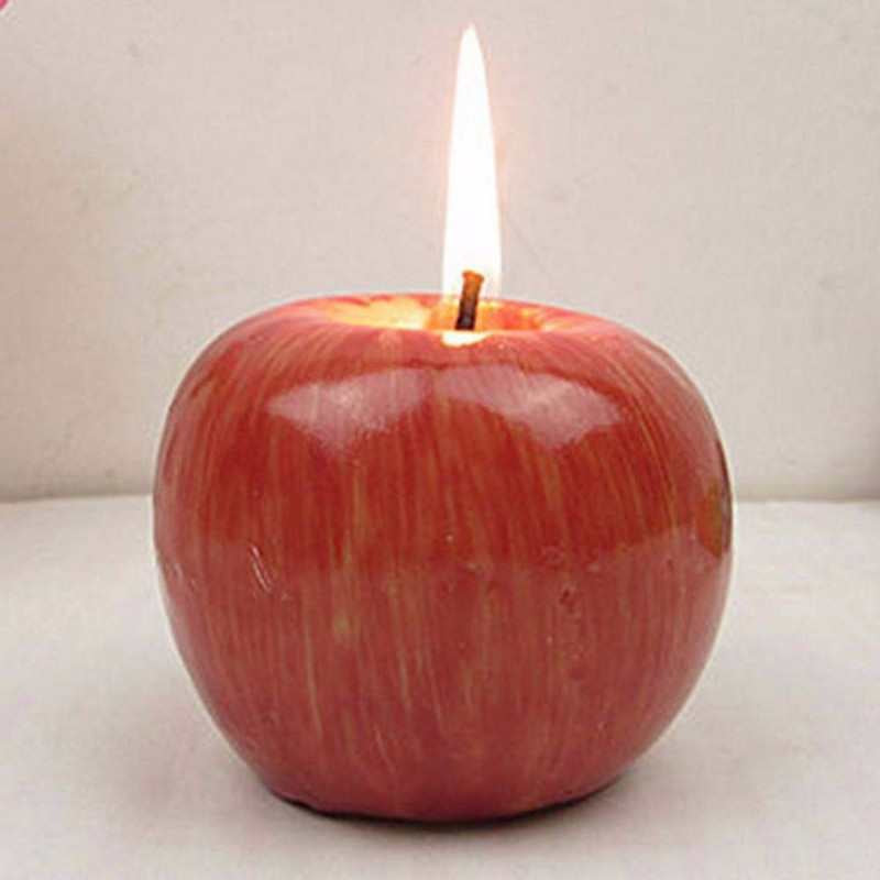 cheap Christmas present best Apple shaped scented candle Home Decoration Greet Gift