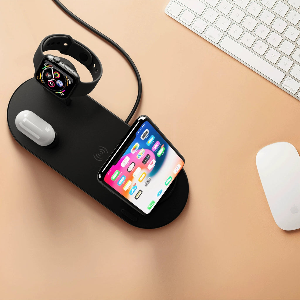 Cheap iphone wireless watch charger Stand 3 in one charging dock