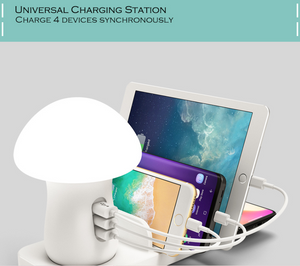 best phone charger mushroom night lamp multi ports USB charging station