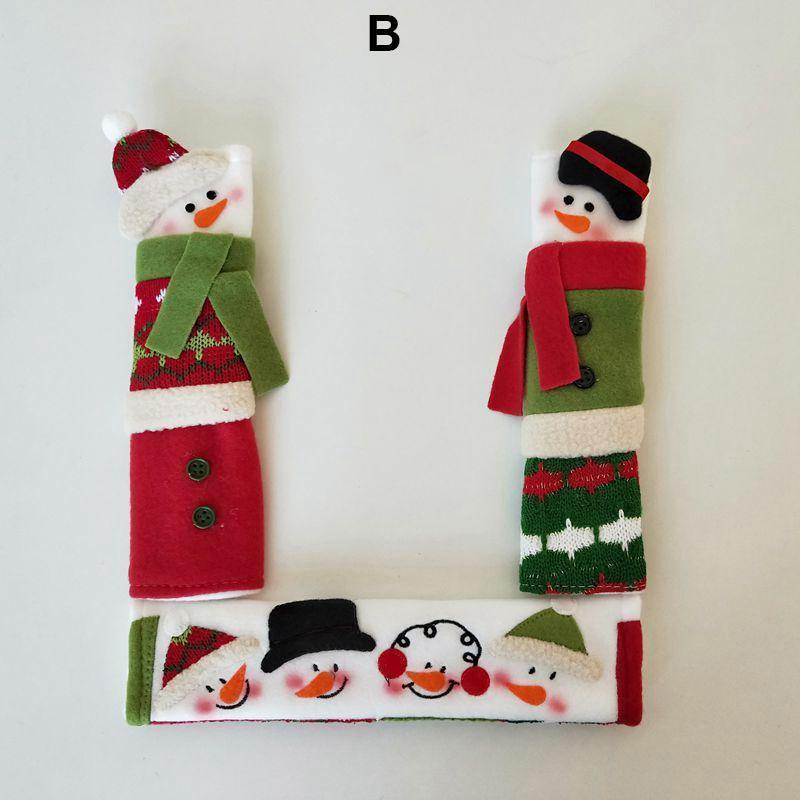 Snowman Kitchen Handle Door Covers (SET OF 3)
