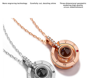 necklace that projects i love you in different languages for women