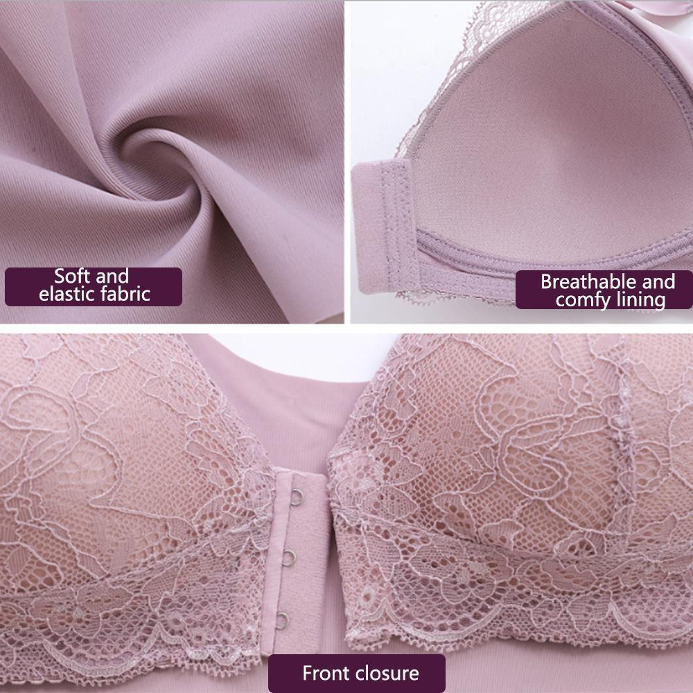 Front Closure Breathable Bra