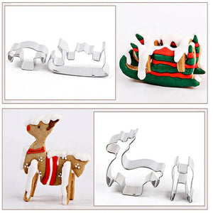 8pcs/set Christmas Cookie Cutters