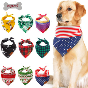 etsy dog christmas bandana  pet costume kerchiefs for dogs