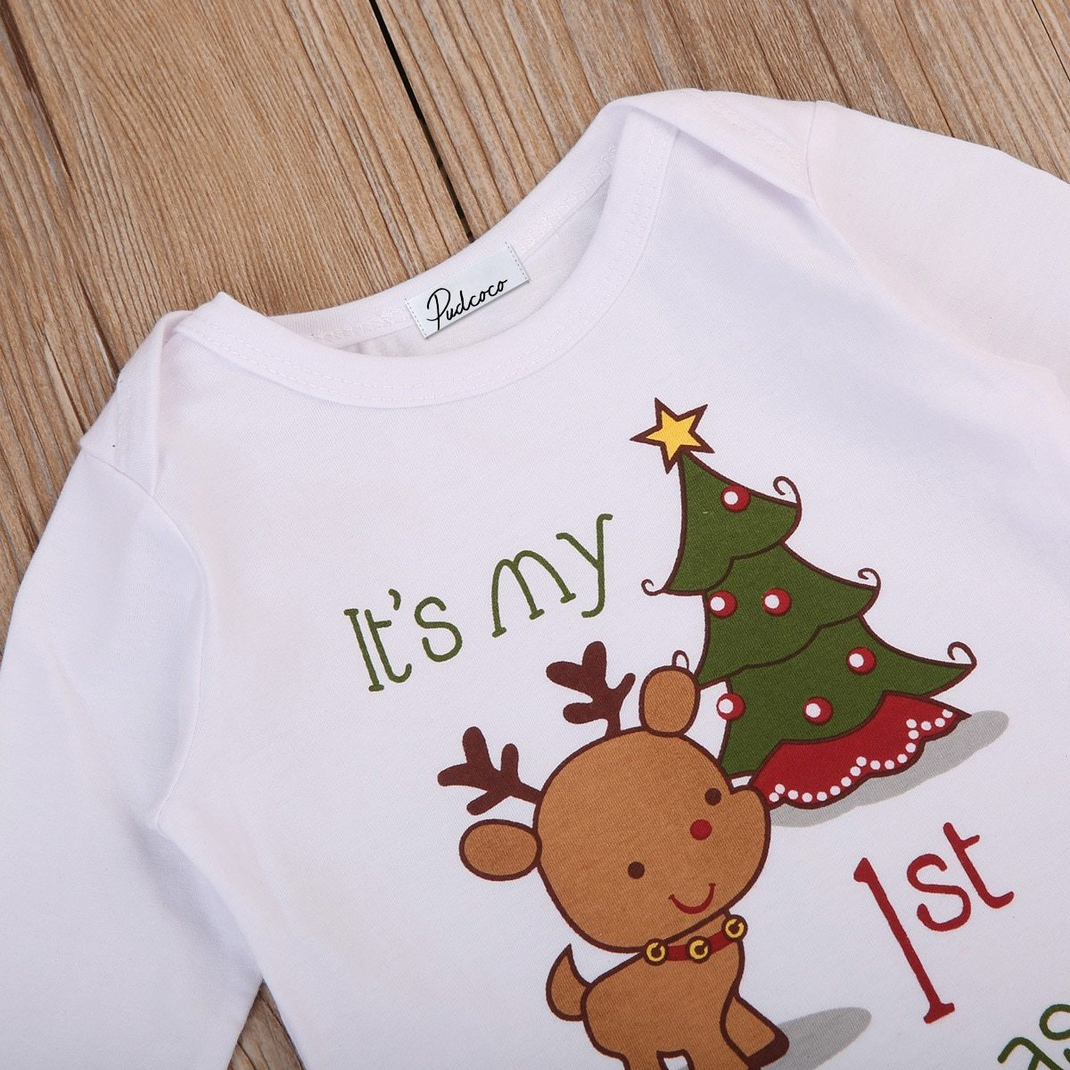 It's My First Christmas Baby Romper