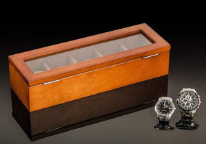 ELEGANCEBOX® UPGRADED - High Grade  Wooden Watch Box With Soft Interior