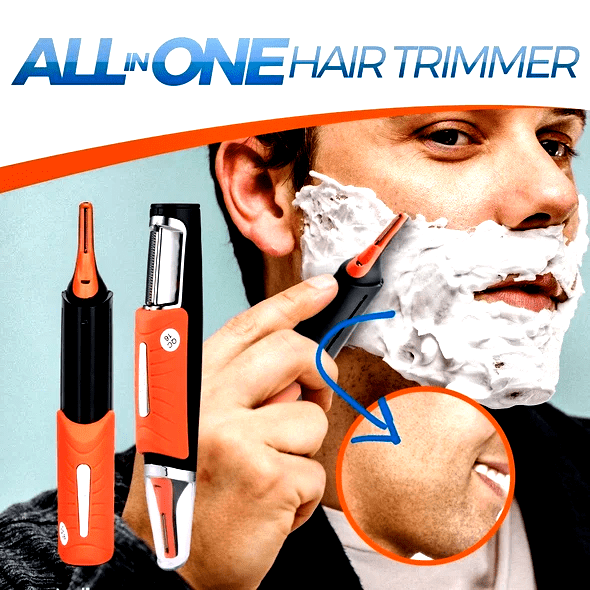 6-In-1 Hair Trimmer - Face Neck Nose Ears Sideburns Body