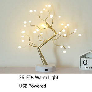 best LED Night Light Home Decoration Bonsai Style Party Firework Christmas Gift