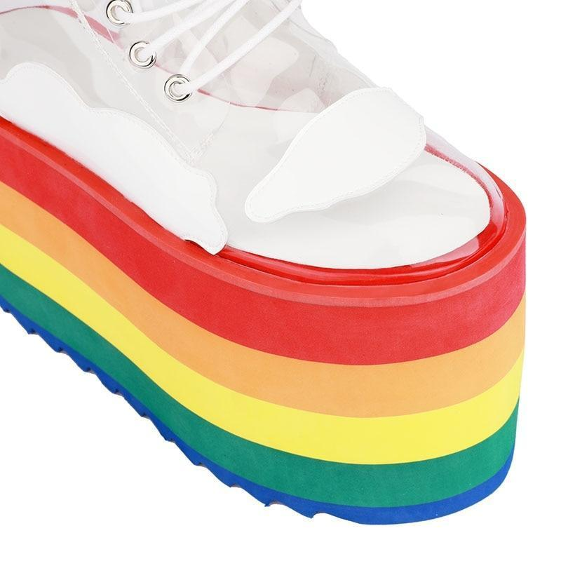 Rainbow Cloud Boots Shoes - Hyped Central Exclusive