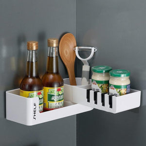 Rotatable Double Tier Shelf