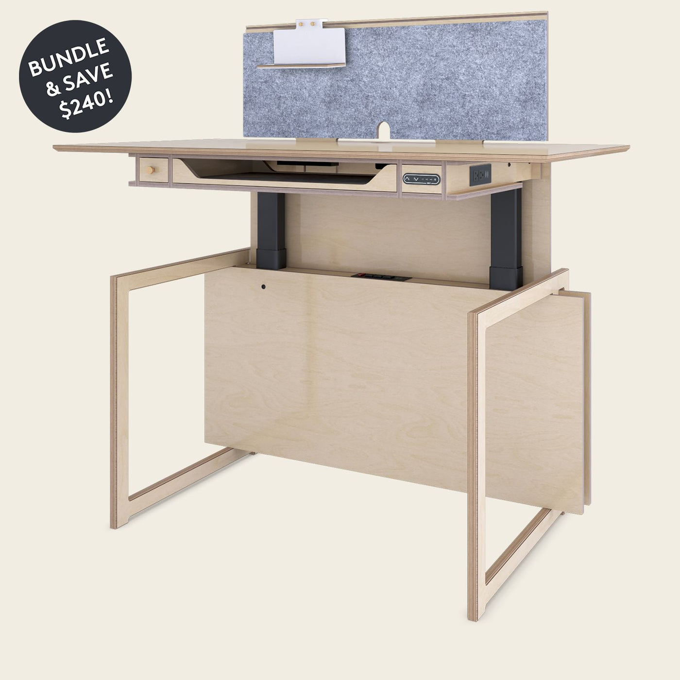 The Baltic Sit-Stand Desk Bundle