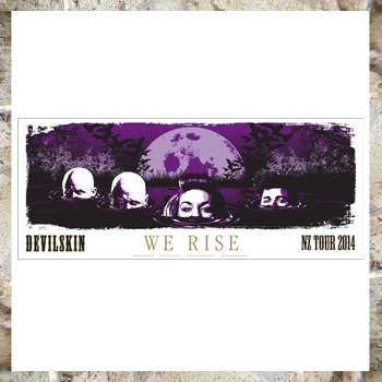 DEVILSKIN - We Rise Ltd Edition Poster