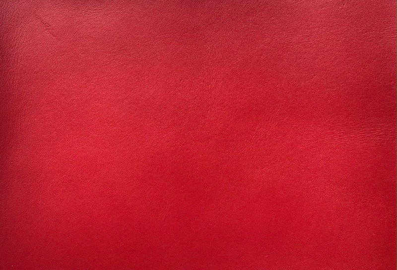Vegetable Tanned Natural Leather - Red