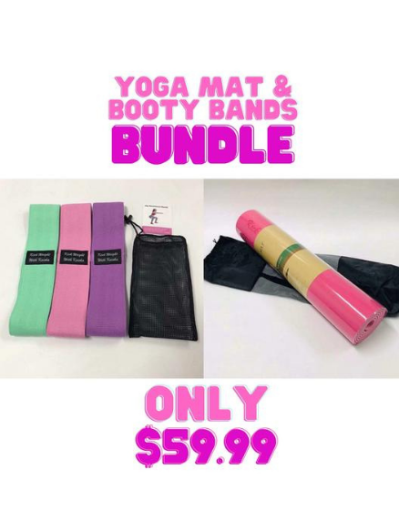 3 Resistance Bands & Yoga Mat Set