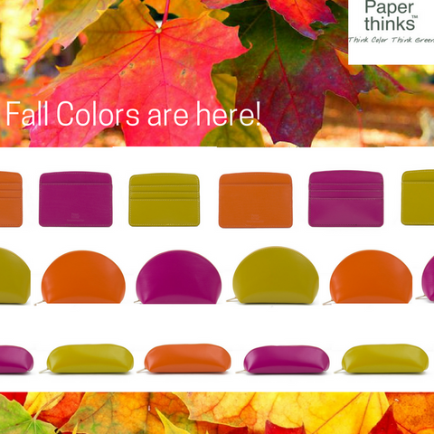 Paperthinks Recycled Leather Fall Inspiration- Accessories in three new colors.