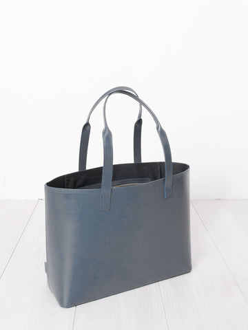Paperthinks recycled leather small tote grey