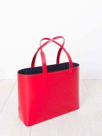 Paperthinks recycled leather small tote red