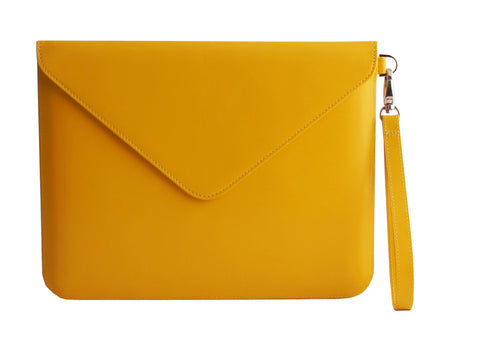 Paperthinks Recycled Leather Tablet Folio - Yellow Gold