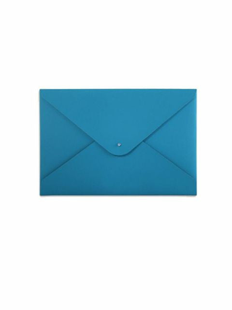 Paperthinks Recycled Leather A4 Letter Size Document Folder - Turquoise - Paperthinks.us