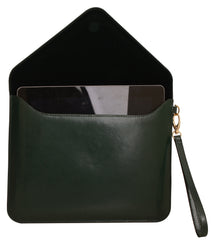 Paperthinks Recycled Leather Tablet Folio - Deep Olive - Paperthinks.us