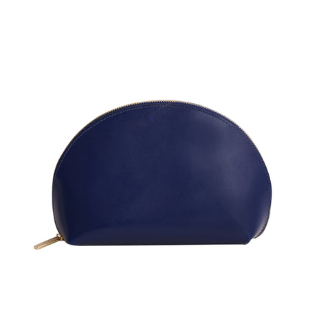 Paperthinks Recycled Leather Cosmetics Pouch - Navy Blue