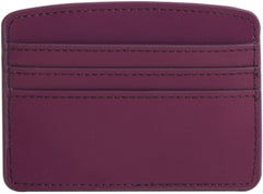 Paperthinks Recycled Leather Card Case - Burgundy - Paperthinks.us