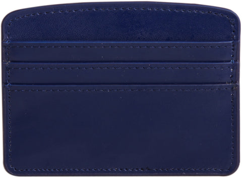 Paperthinks Recycled Leather Card Case - Navy Blue