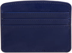 Paperthinks Recycled Leather Card Case - Navy Blue - Paperthinks.us