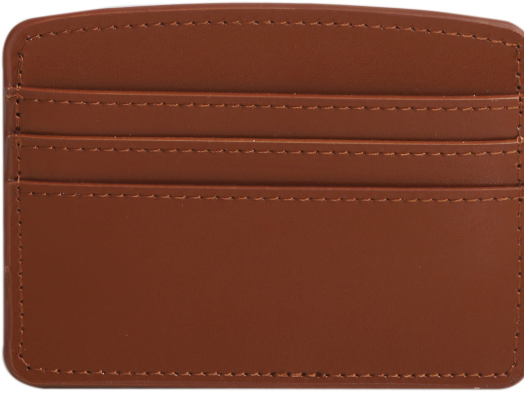 Paperthinks Recycled Leather Card Case in Tan-Front view