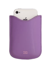 Paperthinks Eco-Friendly Leather Card Case - Violet - Paperthinks.us
